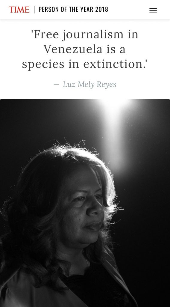 Revista Time rinde homenaje a periodista venezolana